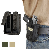 6 Position Ambidextrous Pancake Holster + Magazine Pouch for 380, Ultra Compact 9mm 40 45 Pistols