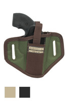 """6 Position Ambidextrous Pancake Holster for 2"""" Snub Nose Revolvers - available in black, desert sand and woodland green"""