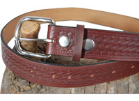 leather basket-weave belt