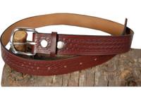 burgundy leather belt