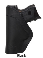black leather IWB holster