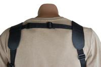 adjustable back piece for shoulder holster