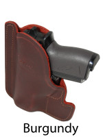 burgundy leather pocket holster