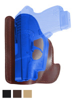 Leather Ambidextrous Pocket Holster for Mini/Pocket .22 .25 .380 .32 Pistols with LASER