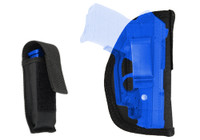 Inside the Waistband Holster + Magazine Pouch for .380 Ultra Compact 9mm .40 .45 Pistols with LASER