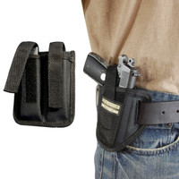Ambidextrous Pancake Holster + Magazine Pouch for .380 Ultra Compact 9mm .40 .45 Pistols with LASER