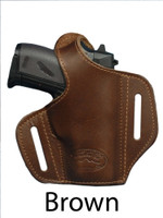 brown leather pancake holster