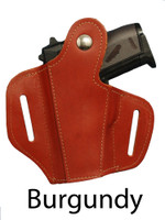 burgundy leather pancake holster