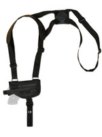 New Horizontal Shoulder Holster for .380 Ultra-Compact 9mm .40 .45 Pistols with LASER (#L42HOR)