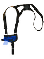 Horizontal Shoulder Holster for .380 Ultra-Compact 9mm .40 .45 Pistols with LASER