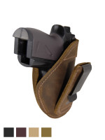 Leather Tuckable IWB Holster for Mini/Pocket .22 .25 .380 Pistols