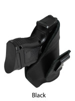 black leather tuckable holster