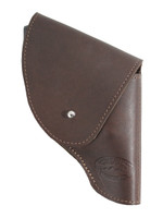"""Brown Leather Flap Holster for Snub Nose 2"""" 22 38 357 41 44 Revolvers"""