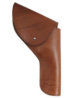 """Brown Leather Flap Holster for 4"""" Revolvers"""