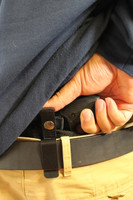 Belt clip right hand small of the back holster
