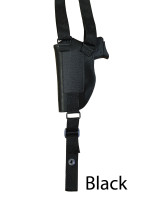 black leather shoulder holster