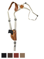 Leather Vertical Shoulder Holster for 380 Ultra Compact 9mm 40 45 Pistols