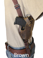 brown leather shoulder holster