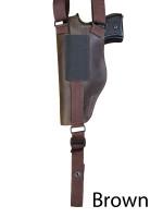 brown leather shoulder holster