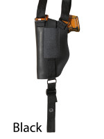 black leather shoulder holster