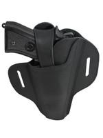 Ambidextrous Black Leather Pancake Holster for Full Size 9mm 40 45 Pistols
