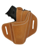 Ambidextrous Tan Leather Pancake Holster for Compact Sub-Compact 9mm 40 45 Pistols