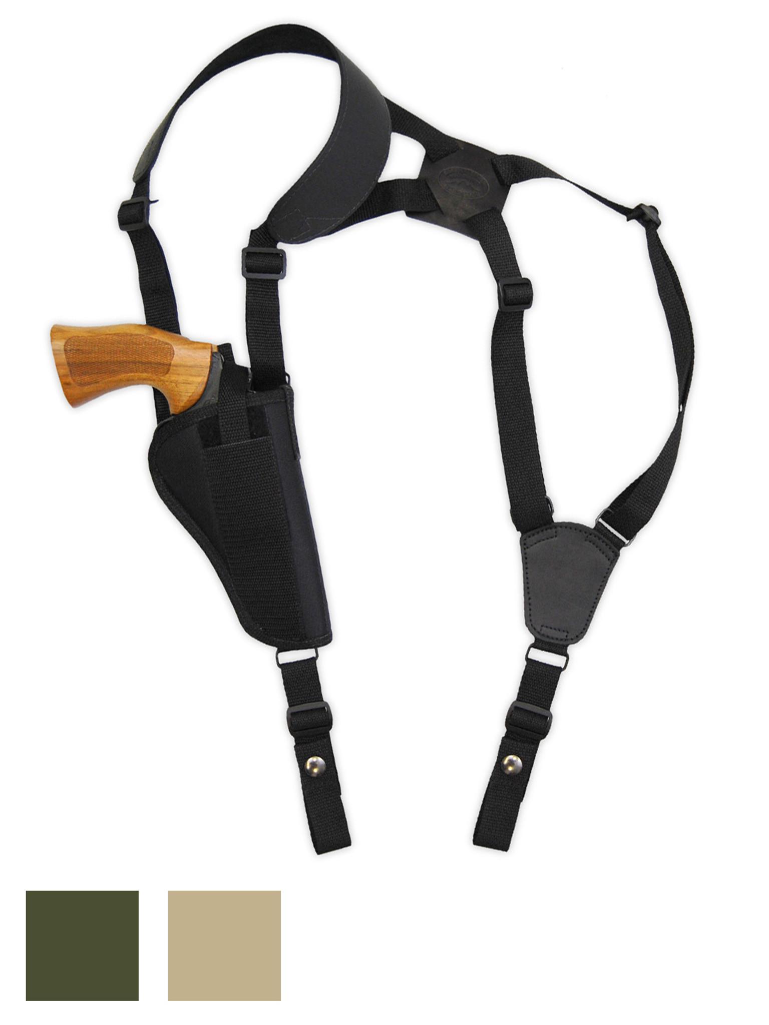 "NEW Barsony Black Leather Horizontal Shoulder Holster Rossi Navy Arm 4/"" Revolver"