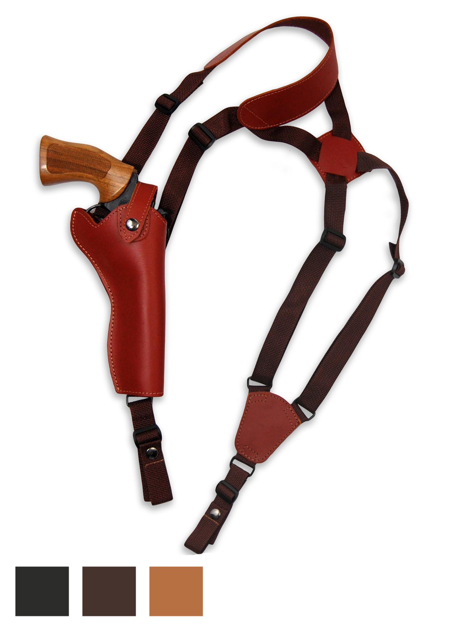 "NEW Barsony Black Leather Vertical Gun Shoulder Holster for Taurus 4/"" Revolvers"
