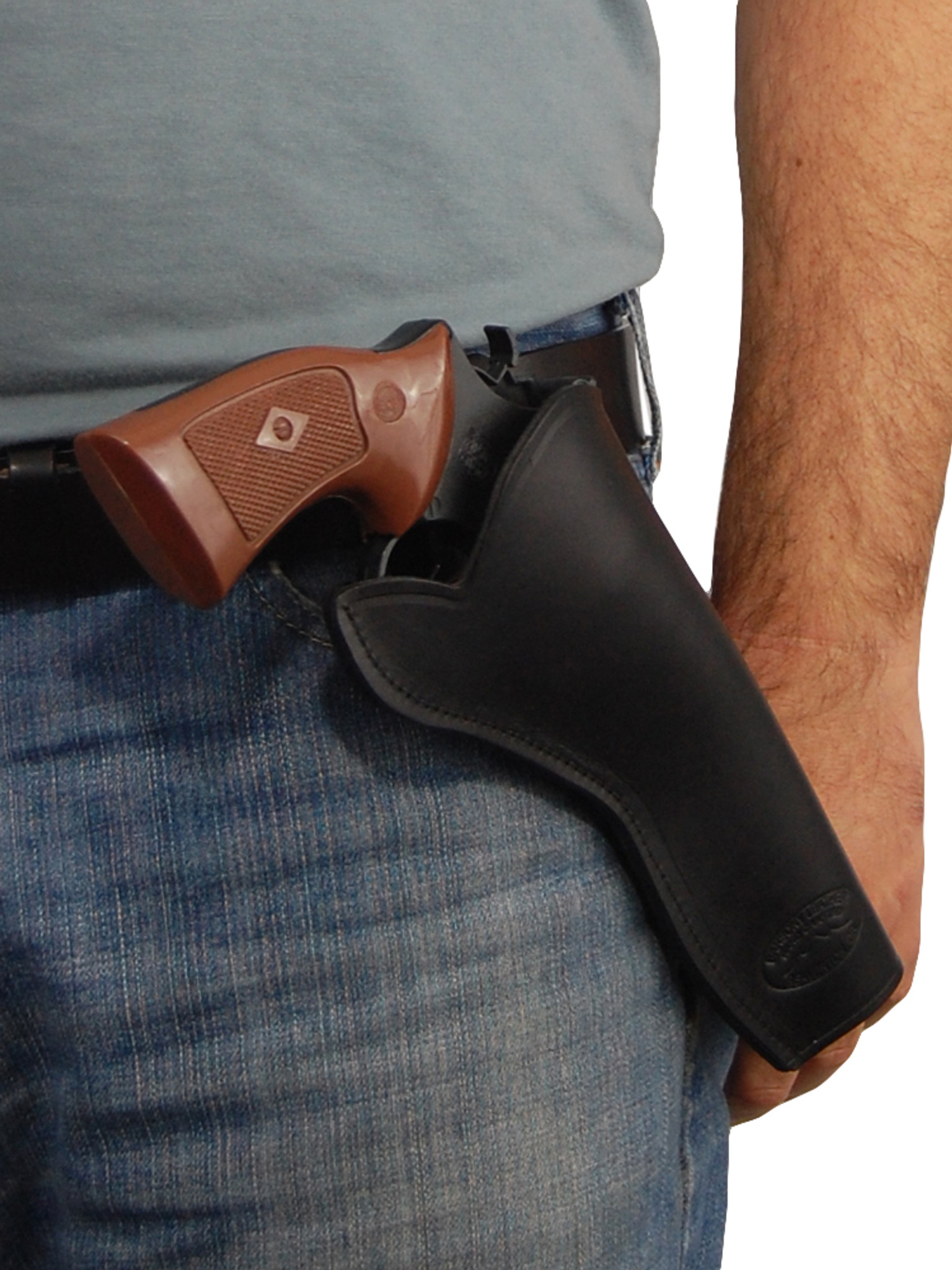Black Leather Cross Draw Holster for 6-8