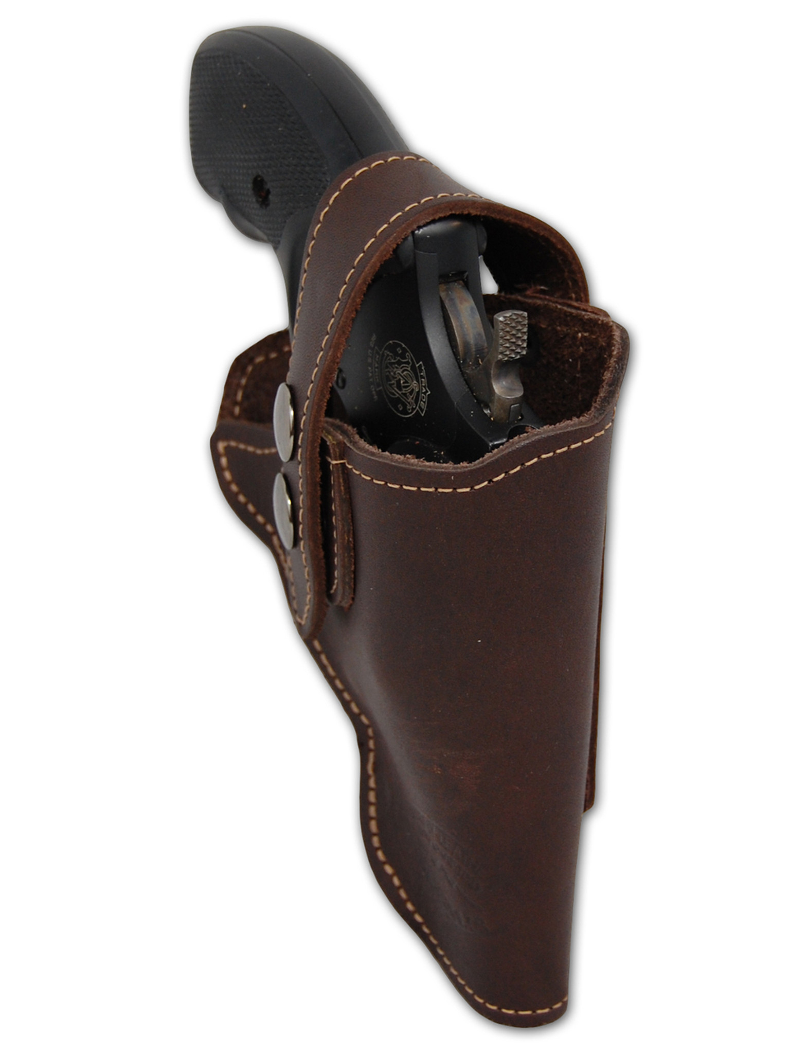 New Brown Leather OWB Holster for Snub Nose 2