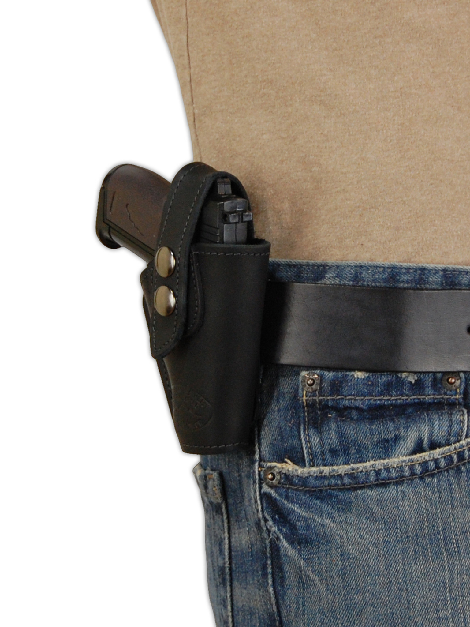 Black Leather OWB Holster for Mini  22  25  32  380 Pistols