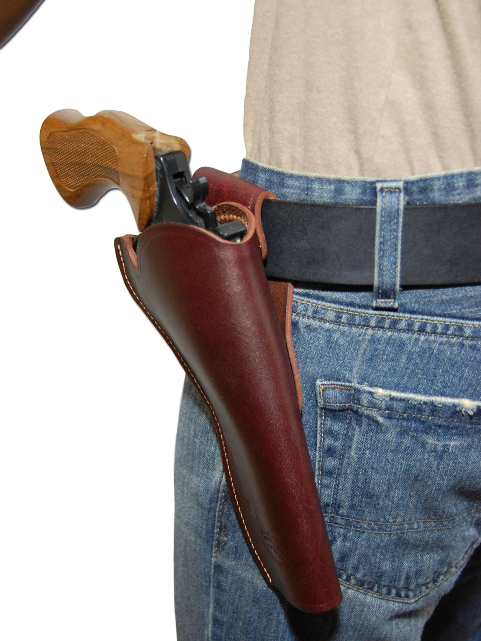 Burgundy Leather Cross Draw Holster for 6-8
