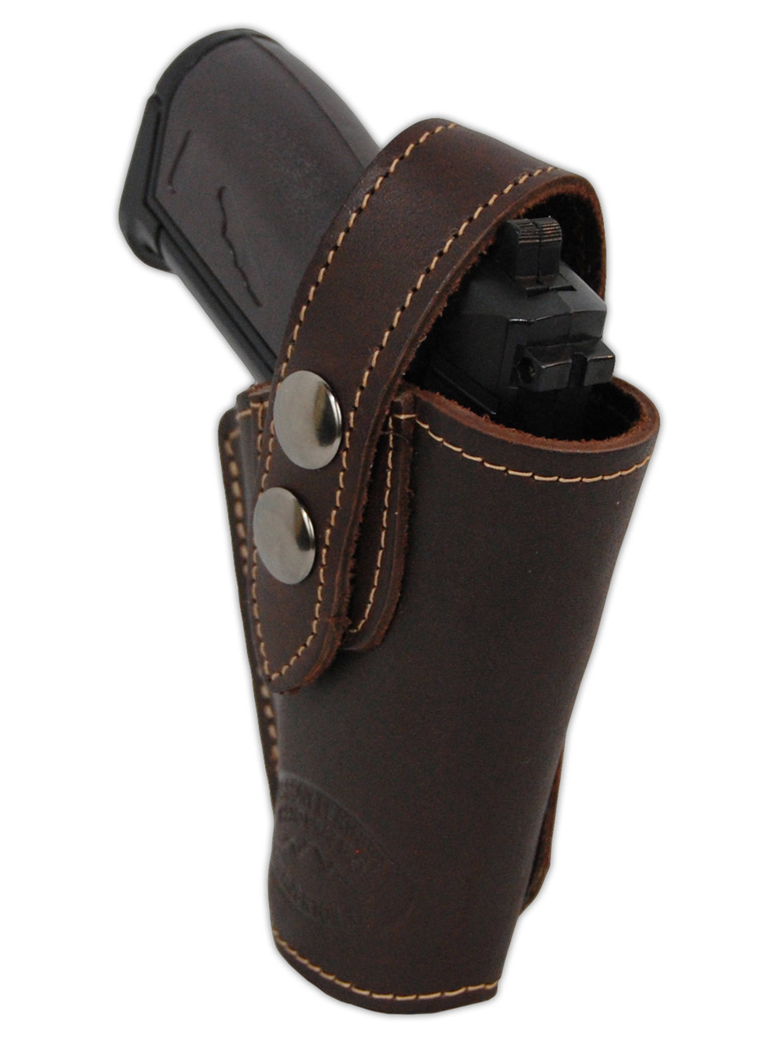 Brown Leather OWB Holster for Mini  22  25  32  380 Pistols