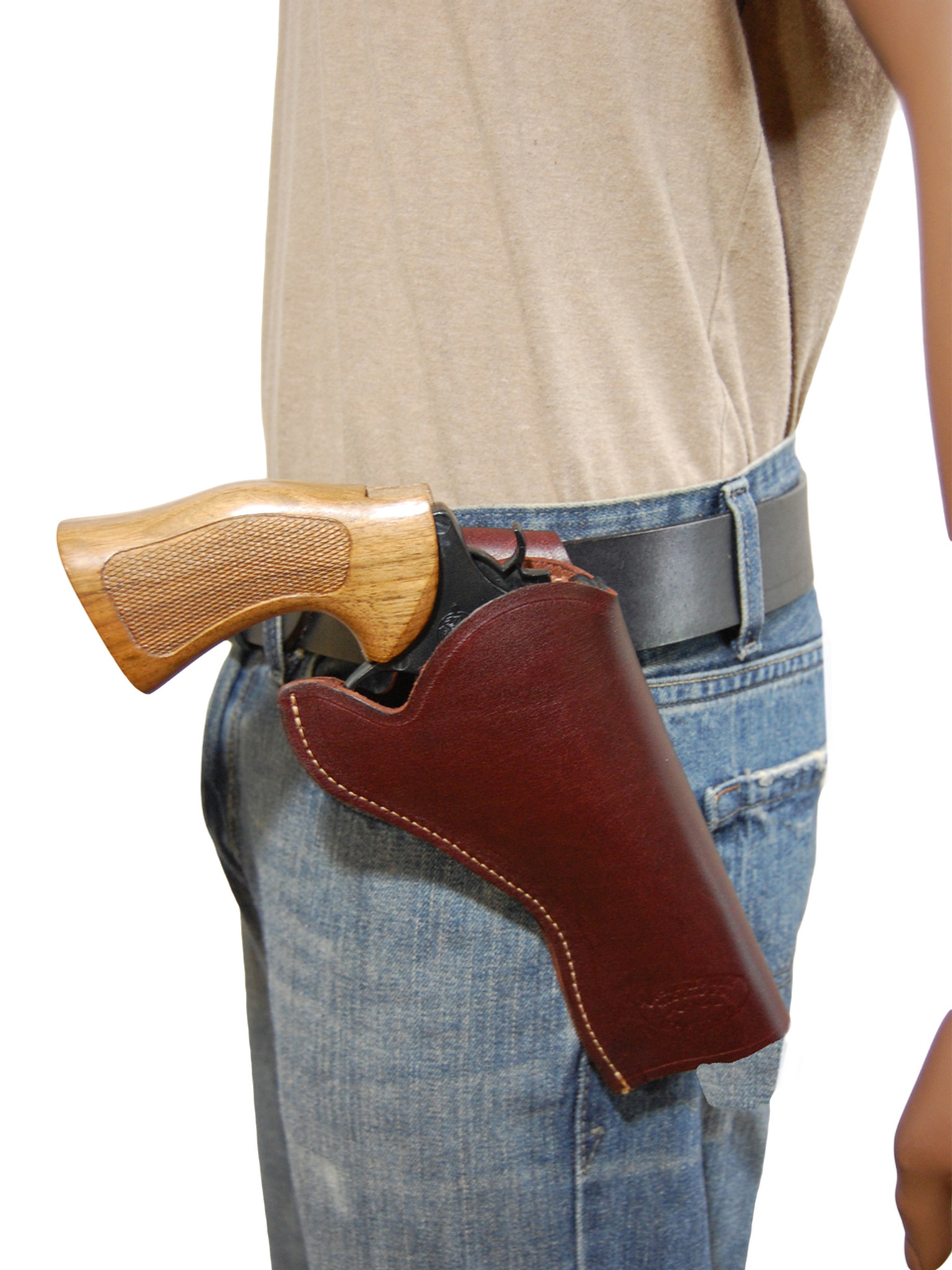 Burgundy Leather Cross Draw Holster for 4-5