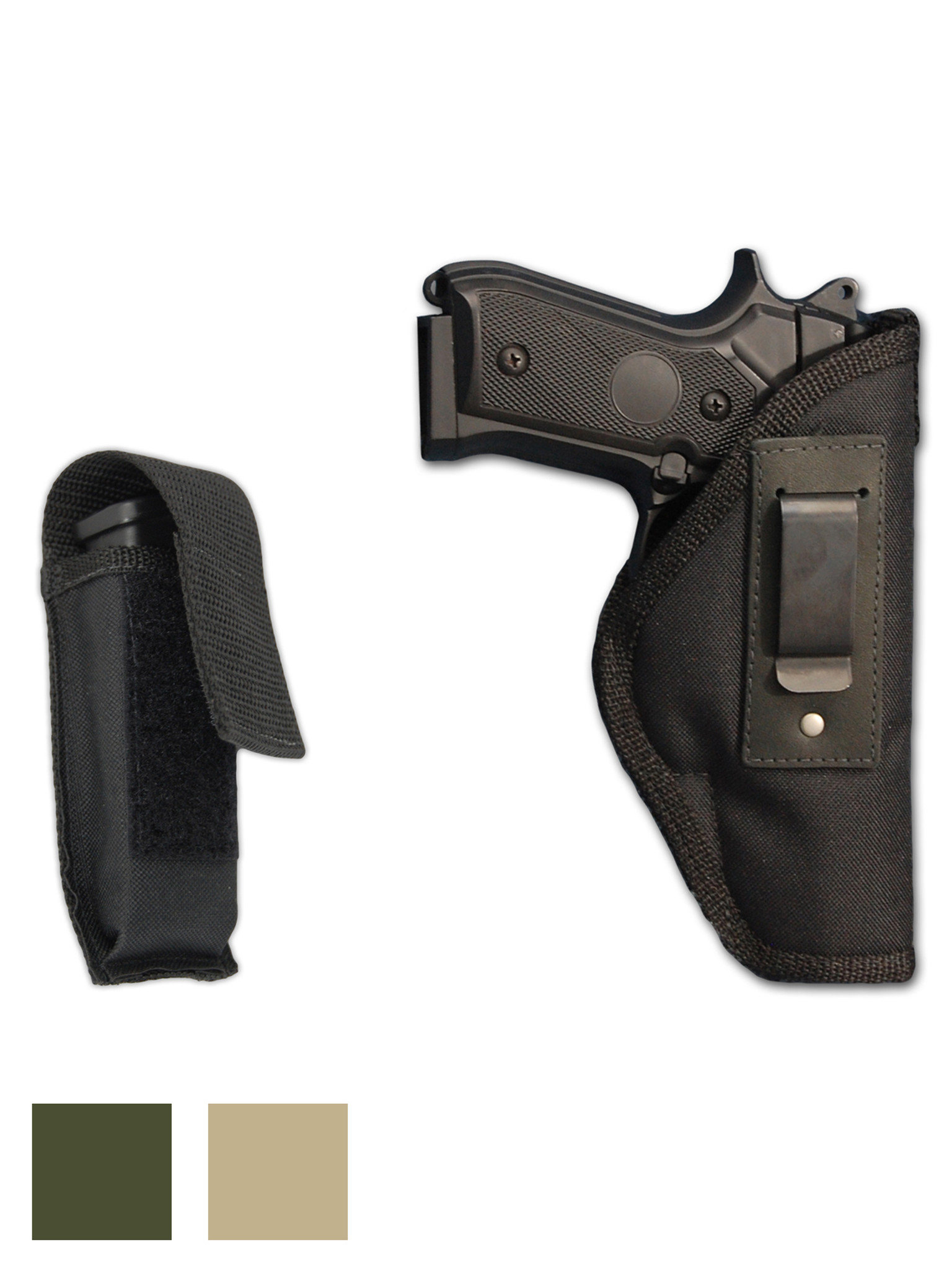 NEW Barsony Black Leather Single Magazine Pouch Astra Beretta Full Size 9mm 40