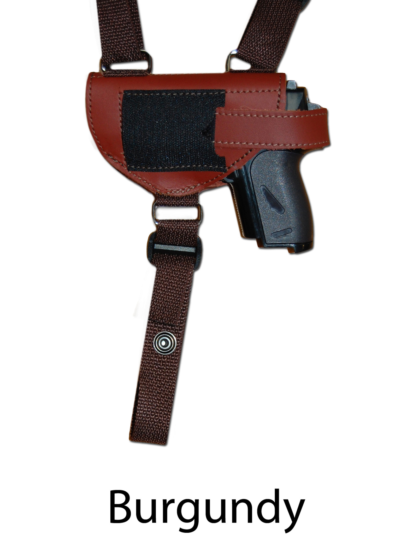 Leather Horizontal Shoulder Holster w/ Magazine Pouch for
