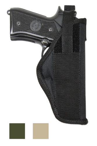 Outside the Waistband Holster for Full Size 9mm .40 .45 Pistols - available in black, desert sand and woodland green