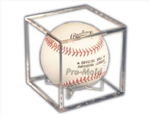 Pro-Mold Ball Cube III Baseball Holder Display Case with Built in Stand