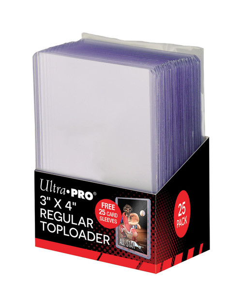 "Ultra Pro Regular 3"" x 4"" Toploaders With Bonus Card Sleeves (25 Count Pack)"