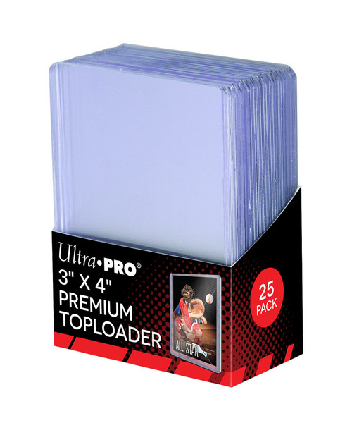 """Ultra Pro Premium Heavy Duty 3"""" x 4"""" Trading Card Toploaders (25 Count Pack)"""