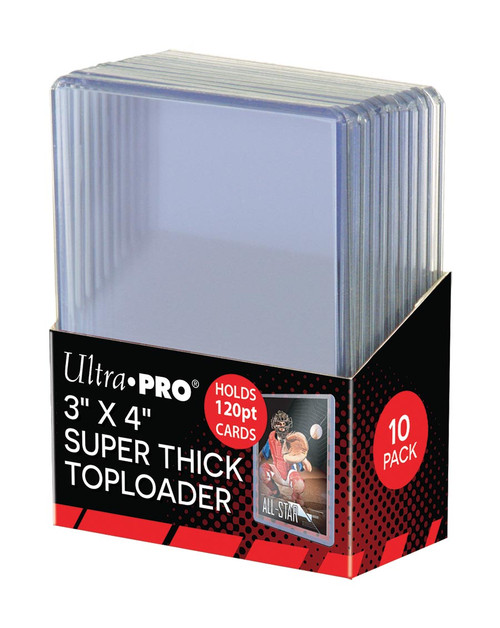 """Ultra Pro Super Thick 120pt Toploaders (10 Count Pack) 3"""" x 4"""" Trading Card Holders"""
