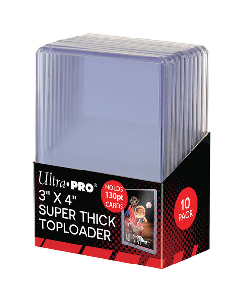 """Ultra Pro Super Thick 130pt Toploaders (10 Count Pack) 3"""" x 4"""" Trading Card Holders"""