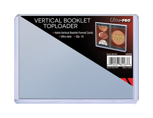 Ultra Pro Vertical Booklet Toploaders (10 Count Pack) Booklet Card Trading Card Holders