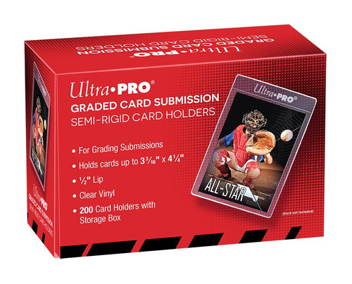 Ultra Pro Semi Rigid Tall Card Holders (Box of 200) Graded Card Submission Size