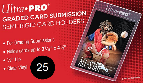 Ultra Pro Semi Rigid Tall Card Holders (Pack of 25) Graded Card Submission Size