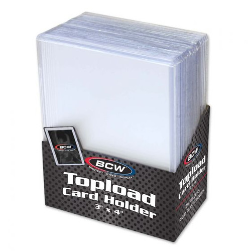 "BCW Topload Card Holder 3"" x 4"" (25 Count Pack) Trading Card Toploaders"