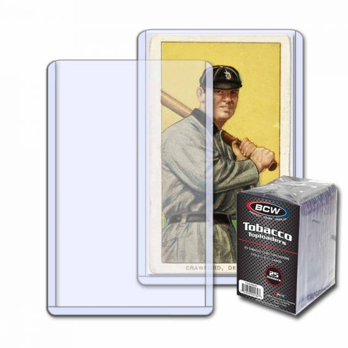 BCW Mini Tobacco Size Toploaders (25 Count Pack) Trading Card Holders