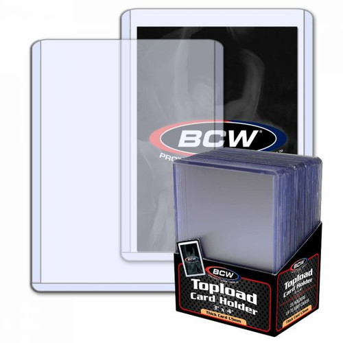 BCW 1.5mm / 59pt Topload Card Holder (25 Count Pack) Thick Card Toploaders