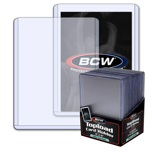 BCW 2mm / 79pt Topload Card Holder (25 Count Pack) Thick Card Toploaders