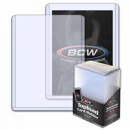 BCW 2.75mm / 108pt Topload Card Holder (10 Count Pack) Thick Card Toploaders